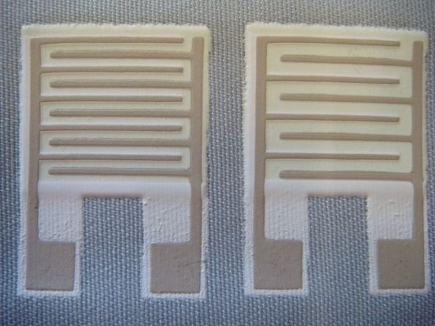 Printed Pcb On Fabric With Components Attached